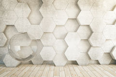 Honeycomb hanging chair Royalty Free Stock Image