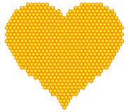 Honeycomb heart Stock Photo