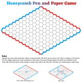 Honeycomb Hex Pen and Paper Game royalty free stock photography