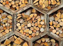Honeycomb hexagon wood blocks Stock Images