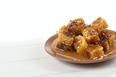 Honeycomb with honey Stock Photography