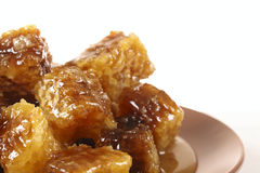 Honeycomb with honey Stock Images