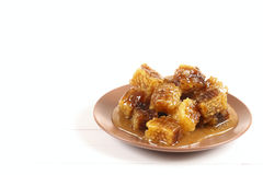 Honeycomb with honey Royalty Free Stock Photo
