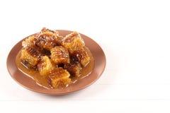 Honeycomb with honey Royalty Free Stock Image