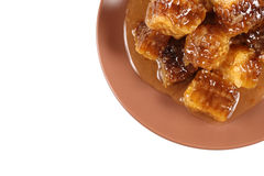 Honeycomb with honey Royalty Free Stock Photos