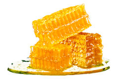 Honeycomb with honey Royalty Free Stock Images