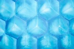 Honeycomb ice cubes background Royalty Free Stock Photo