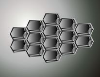 Honeycomb illustration Royalty Free Stock Photo