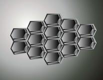 Honeycomb illustration Royalty Free Stock Photo