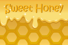 Honeycomb  illustration for background with text place Stock Photos