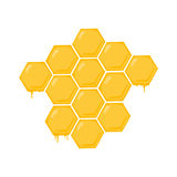 Honeycomb illustration. Honey; Beehive drawing Royalty Free Stock Photos