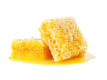 Honeycomb isolate on white. Background Royalty Free Stock Image