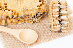 Honeycomb on isolate or white Stock Photography