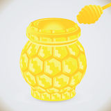 Honeycomb jar Royalty Free Stock Photo