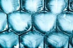 Honeycomb kostek lodu tła odgórny widok Zdjęcia Royalty Free
