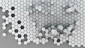 Honeycomb kruszcowy abstrakt Obrazy Stock