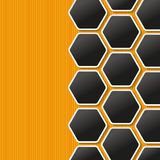 Honeycomb Labels Royalty Free Stock Photo