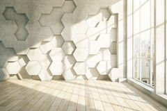 Honeycomb light parquet Stock Photos
