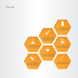 Honeycomb with medical flat icons. Royalty Free Stock Photos