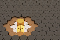 Honeycomb metalu tło, 3D ilustracja Obraz Royalty Free