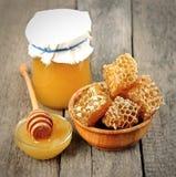 Honeycomb miód Fotografia Stock