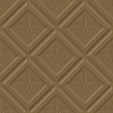 Honeycomb milk chocolate pattern Stock Image