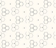 Honeycomb or molecular background, seamless hexagons pattern,  illustration Stock Photography