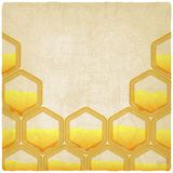 Honeycomb old background Royalty Free Stock Photography