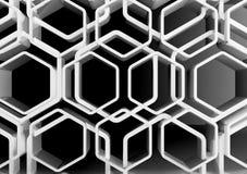 Honeycomb ornamentacyjny tło, 3d royalty ilustracja