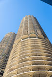 The honeycomb parking garage building in downtown Chicago. Stock Photo