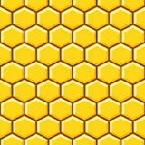 Honeycomb pattern cells vector background. Honeycomb pattern yellow cells vector seamless background vector illustration