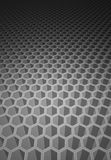 Honeycomb pattern. 3 dimension honeycomb pattern which have blue color as background Stock Photography