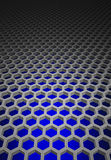 Honeycomb pattern. 3 dimension honeycomb pattern which have blue color as background Stock Images