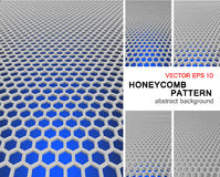 Honeycomb pattern. 3 dimension honeycomb pattern which have bright color as background Stock Photography