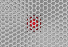 Honeycomb pattern. 3 dimension honeycomb pattern which have red color as background Royalty Free Stock Photo
