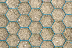 Honeycomb Pattern on Ground Royalty Free Stock Image
