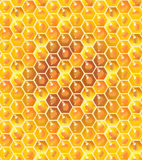 Honeycomb pattern. Honeycomb seamless pattern. Honey dripping, bee honey drops, honey background. Honeycomb for advertising design, realistic fresh healthy food Stock Photos