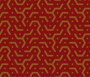 Honeycomb pattern in red tones Royalty Free Stock Photos