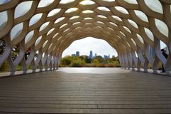 The Honeycomb. This is a picture taken from within the Peoples Gas Educational Pavillion  , known as the honeycomb at The Lincoln Park Zoo in Chicago, Illinois Stock Photos