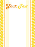 honeycomb ramowy styl Fotografia Stock