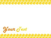 honeycomb ramowy styl Zdjęcia Stock