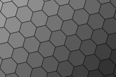 Honeycomb random Grid background or Hexagonal cell texture. in color black or dark with gradient color. Honey bee hive. rotate view vector illustration