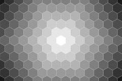 Honeycomb random Grid background or Hexagonal cell texture. in color black or dark with gradient color. Honey bee hive. With vignette dark border shadow vector illustration