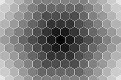 Honeycomb random Grid background or Hexagonal cell texture. in color black or dark with gradient color. Honey bee hive. With vignette dark border shadow stock illustration