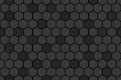 Honeycomb random Grid background or Hexagonal cell texture. in color black or dark with random color. Honey bee hive vector illustration