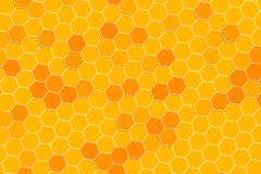 Honeycomb random Grid background or Hexagonal cell texture. In yellow honey bee tone style.  With rotate stock illustration