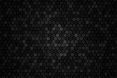 Honeycomb random rotate Grid background or Hexagonal cell texture. in color black or dark. Tone black or dark border style royalty free illustration