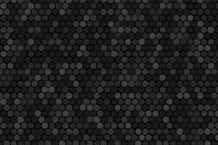 Honeycomb random rotate Grid background or Hexagonal cell texture. in color black or dark. Tone black or dark border style vector illustration
