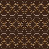 Honeycomb Retro Geometric Graphic Seamless Hexagon Pattern stock illustration