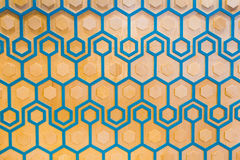 Honeycomb. Retro styled honey comb pattern Stock Photo